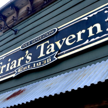 Friar's Tavern sign